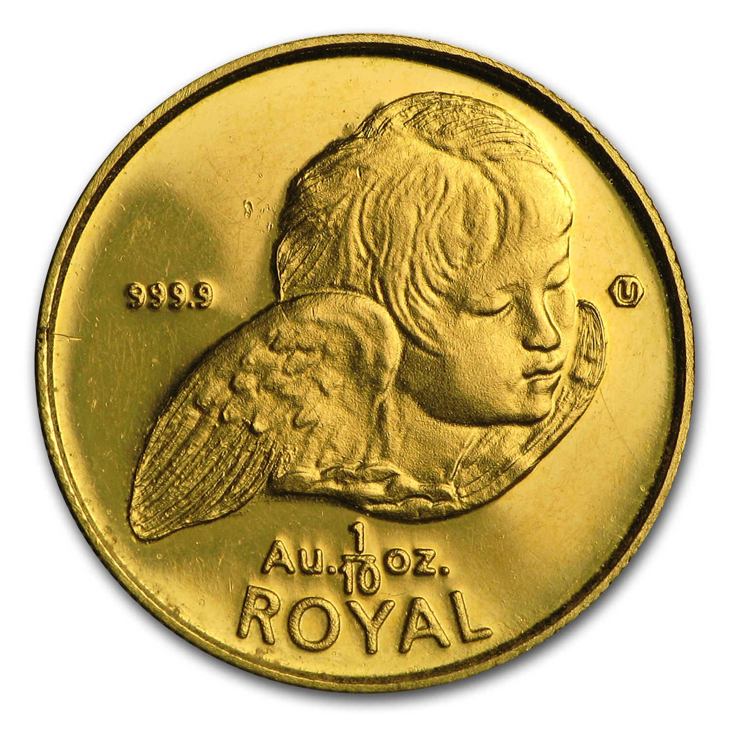 Gibraltar 1/10 oz Gold Royal Cherubs Unc. (Random Dates)